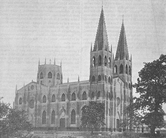 San Sebastian Church Drawing Exterior
