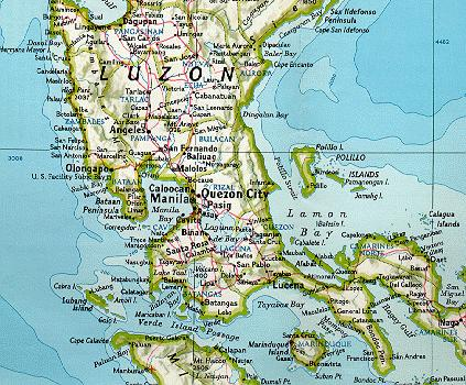 maps map luzon